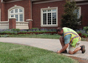one of our La Marque sprinkler repair techs is checking the system